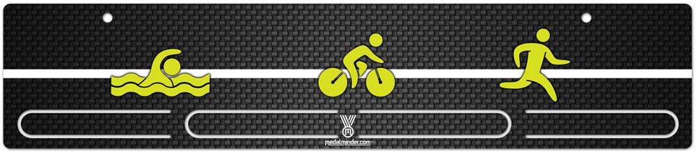 medal displays for triathletes
